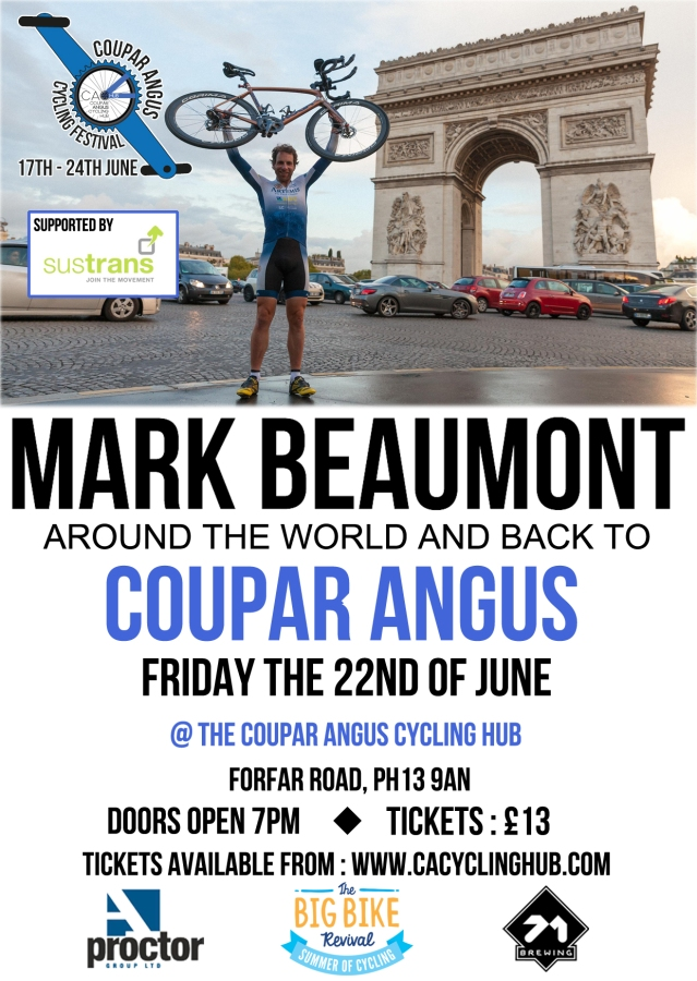 Mark Beaumont poster 2018