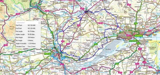 50 miler route